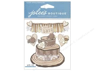 theme stickers  wedding: Jolee's Boutique Stickers Shimmery Wedding Cake