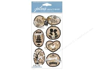 ribbon: Jolee's Boutique Stickers Large Wood Silhouette Wedding