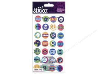 scrapbooking & paper crafts: EK Sticko Stickers Words & Icon Circle