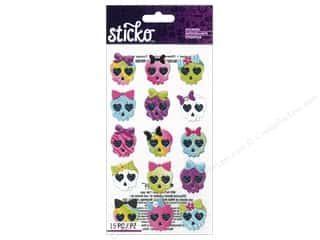 EK Sticko Stickers Girly Skulls
