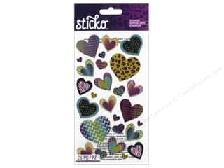 stickers: EK Sticko Stickers Patterned Hearts