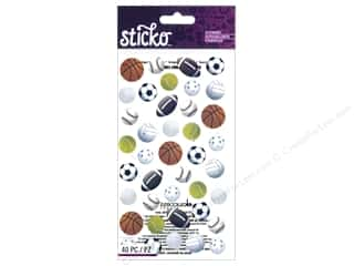 die cuts: EK Sticko Stickers Sports Balls