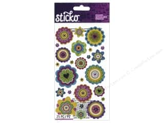 EK Sticko Stickers Graphic Flowers