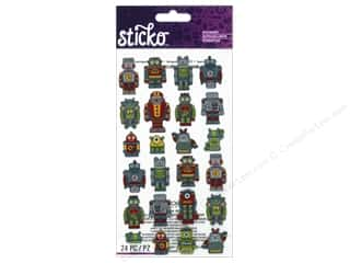 scrapbooking & paper crafts: EK Sticko Stickers Mini Robots