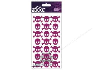 die cuts: EK Sticko Stickers Pink Metallic Skulls