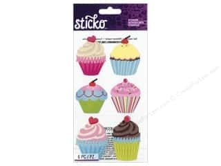 Baking Wraps / Cupcake Wrappers: EK Sticko Stickers Glitter Jumbo Cupcakes