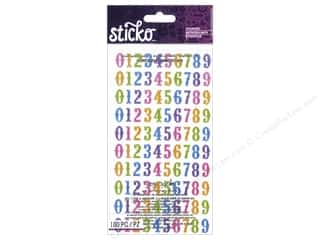 stickers: EK Sticko Stickers Bright Glitter Numbers