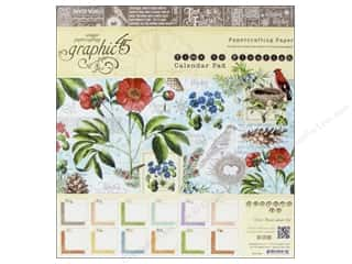 Holiday Sale Printed Cardstock: Graphic 45 8 x 8 in. Paper Pad A Time To Flourish Collection Calendar