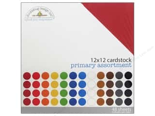 Stock Up Sale Cardstock: Doodlebug Paper 12 x 12 in. Cardstock Pack Textured Primary