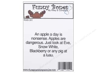 Riley & Company Cling Stamps Funny Bones Apples Are Dangerous