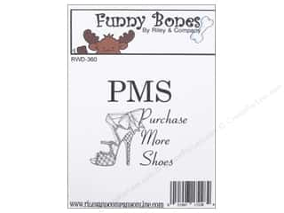 Riley & Company Cling Stamps Funny Bones PMS