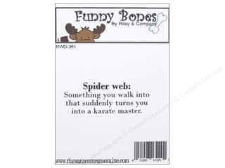 Riley & Company Cling Stamps Funny Bones Spider Web