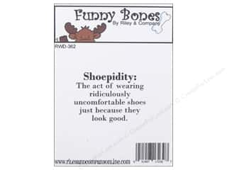 stamps: Riley & Company Cling Stamps Funny Bones Shoepidity
