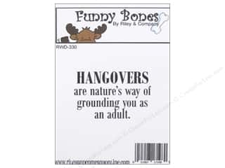 stamps: Riley & Company Cling Stamps Funny Bones Hangovers