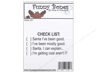 stamps: Riley & Company Cling Stamps Funny Bones Check List