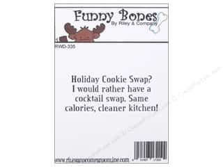 Holiday Sale Stampendous Cling Rubber Stamp: Riley & Company Cling Stamps Funny Bones Cookie Swap