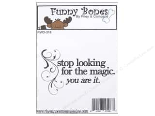 Magic Stamp: Riley & Company Cling Stamps Funny Bones Magic