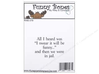 Riley & Company Cling Stamps Funny Bones I Swear It Will Be Funny