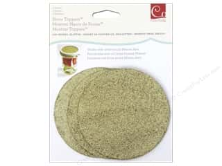 craft & hobbies: Cosmo Cricket Show Toppers 3 pc. Glitter Lid Inserts Gold