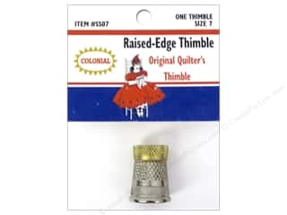 Silver Thimble Quilt Co: Colonial Needle Raised Edge Thimble Size 7