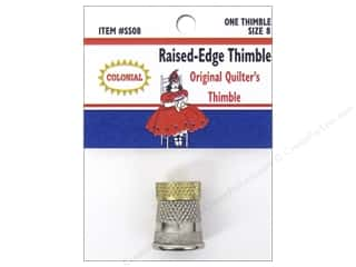 Colonial Needle: Colonial Needle Raised Edge Thimble Size 8