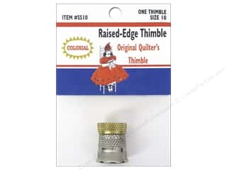 Silver Thimble Quilt Co: Colonial Needle Raised Edge Thimble Size 10