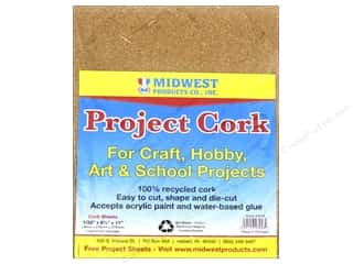 Midwest Cork Sheet 8 1/2 x 11 x 1/32 in. 4 pc.