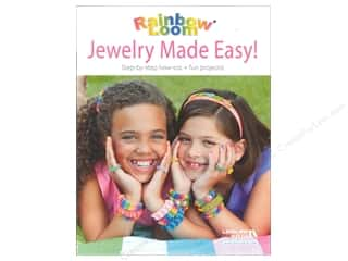 beading & jewelry making supplies: Leisure Arts Rainbow Loom Jewelry Made Easy! Book-