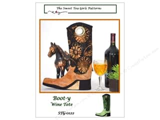 Sweet Tea Girls Boot-y Wine Tote Pattern