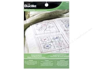 stamps: Bucilla Stamped Cross Stitch Quilt Block 15 in. Flowers 6 pc.