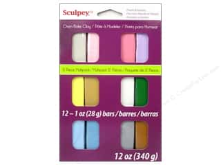 Polymer Clay: Sculpey III Clay Multipack 12 pc. Pearls & Pastels