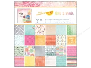 Scrapbooking & Paper Crafts  Papers : American Crafts Paper Pad 12 x 12 in. Amy Tangerine Rise & Shine