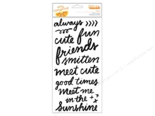 clearance American Crafts Thickers Stickers: American Crafts Thickers Stickers Amy Tangerine Rise & Shine Grace Black