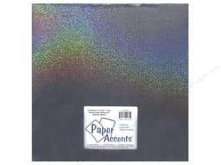 Paper Accents Adhesive Vinyl 12 x 12 in. Removable Sparkle Black