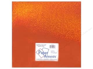 Paper Accents Adhesive Vinyl 12 x 12 in. Removable Sparkle Orange