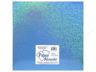 Paper Accents Adhesive Vinyl 12 x 12 in. Removable Sparkle Sky Blue