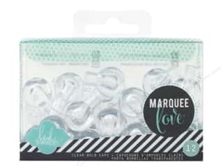 Heidi Swapp Marquee Love Bulb Caps 1 in. Clear 12 pc.