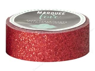 Heidi Swapp Marquee Love Glitter Tape 7/8 in. Red