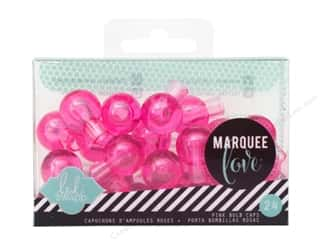 Lights: American Crafts Heidi Swapp Marquee Love Bulb Caps 3/4 in. Pink 24 pc.