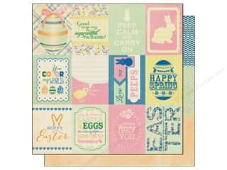 Spring Printed Cardstock: Authentique 12 x 12 in. Paper Treasure Enhancements (25 sheets)