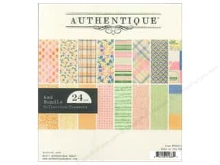 Spring Printed Cardstock: Authentique 6 x 6 in. Paper Bundle Treasure Collection