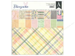 Spring Printed Cardstock: Authentique Paper Pad 12 x 12 in. Treasure Collection