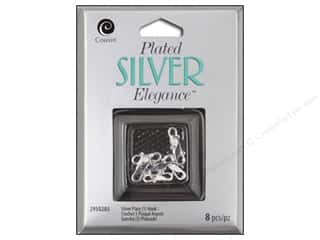 beading & jewelry making supplies: Cousin Elegance Silver Plated S Hook 8pc