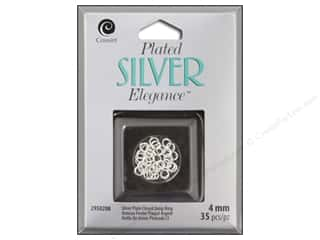craft & hobbies: Cousin Elegance Jump Rings 4 mm 30 pc. Silver Plate