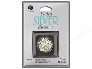 craft & hobbies: Cousin Elegance Silver Plated Earring Nut 5mm 30pc