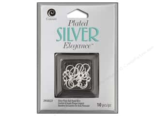 craft & hobbies: Cousin Elegance Silver Plated Ball Hook Wire 10pc