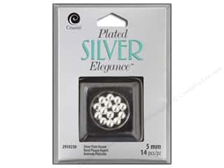 craft & hobbies: Cousin Elegance Metal Bead 5 mm Round 14 pc. Silver Plate