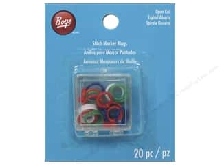 yarn & needlework: Boye Stitch Marker 20 pc. Open Coil Rings