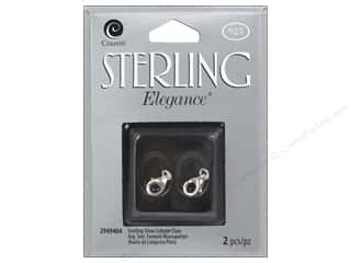 beading & jewelry making supplies: Cousin Elegance Sterling Lobster Claw 2pc