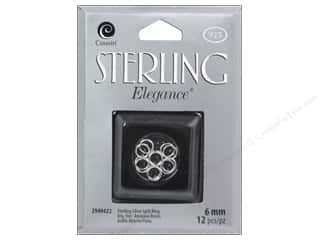 beading & jewelry making supplies: Cousin Elegance Sterling Split Ring 6mm 12pc